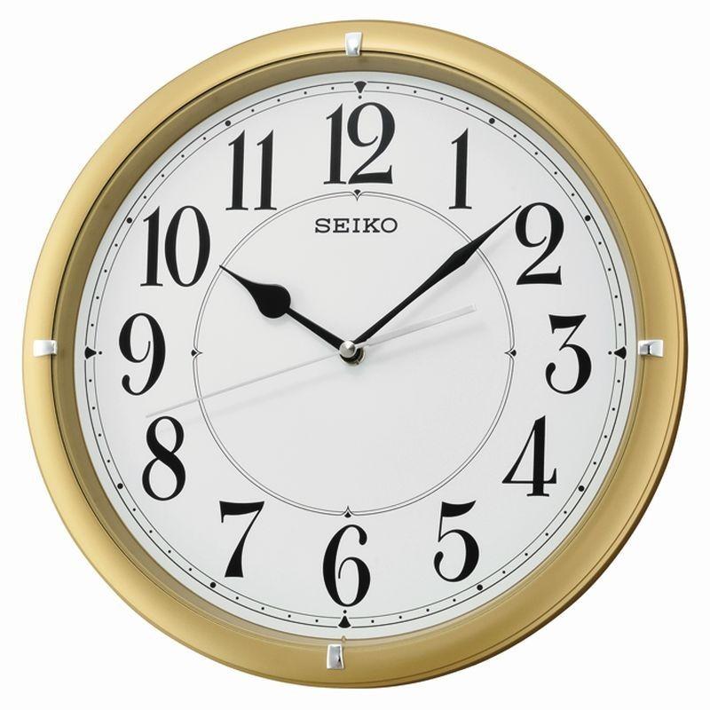 horloge murale seiko qxa637gn silencieuse dor m tallis. Black Bedroom Furniture Sets. Home Design Ideas