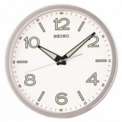 Horloge murale seiko qxa679sn grise aiguilles lumibrite - Horloge murale contemporaine ...