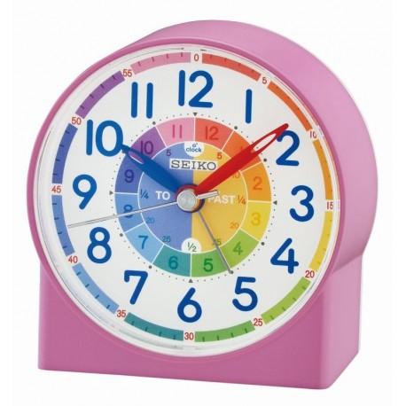 reveil enfant qhe153pn rose alarme chiffres aiguilles lumibrite. Black Bedroom Furniture Sets. Home Design Ideas