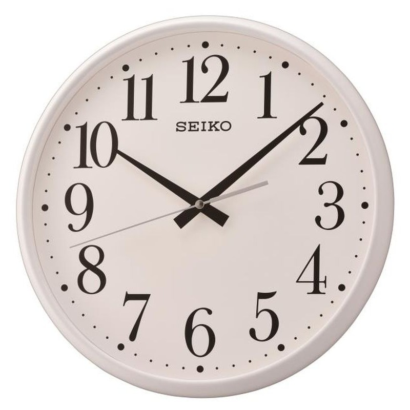 horloge murale seiko qxa728wn blanc mat. Black Bedroom Furniture Sets. Home Design Ideas