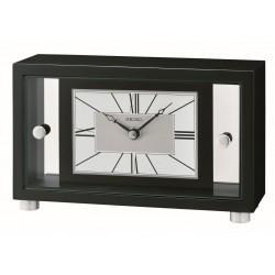 Horloge premium à poser en bois noir Seiko QXG149KN
