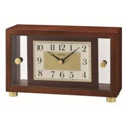 Horloge premium à poser en bois Seiko QXG149BN