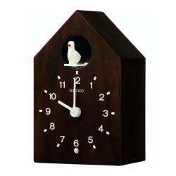 Horloge coucou en bois foncé Seiko QXH070BN