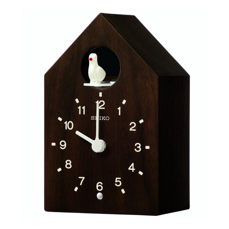 Horloge Murale Coucou En Bois Brun Fonce