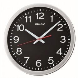 Horloge murale noire Seiko QXA732SN