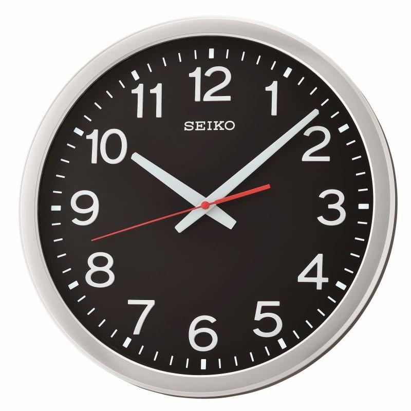 Horloge murale noire avec aiguille silencieuse for Horloge murale silencieuse