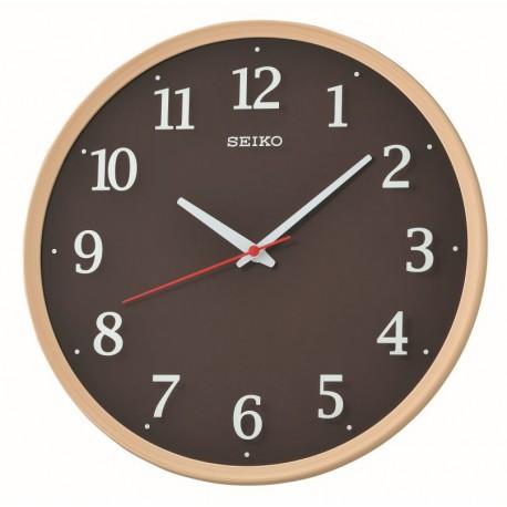 horloge murale effet bois avec trotteuse silencieuse. Black Bedroom Furniture Sets. Home Design Ideas