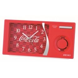 Réveil analogique Seiko QHP901RN Coca Cola rouge métallisé