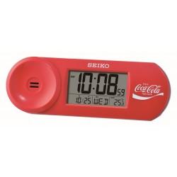 Réveil digital arrondi Seiko QHL902RN Coca Cola rouge