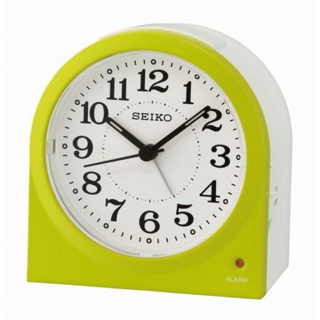 Réveil analogique arrondi Seiko QHE179MN vert clair