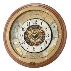Horloge animée dorée ronde Seiko QXM381BT