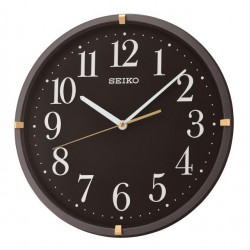 Horloge murale noir métallisé et doré Seiko QXA746JN
