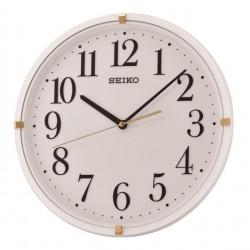 Horloge murale blanc et doré Seiko QXA746WN