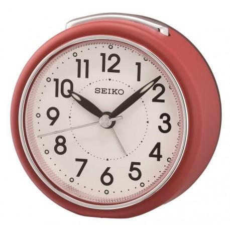 Réveil analogique rond rouge Seiko QHE125RN