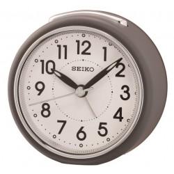 Réveil analogique rond gris mat Seiko QHE125NN