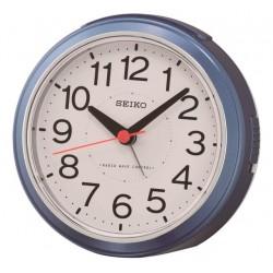 Réveil analogique rond bleu métallisé Seiko QHR026LN