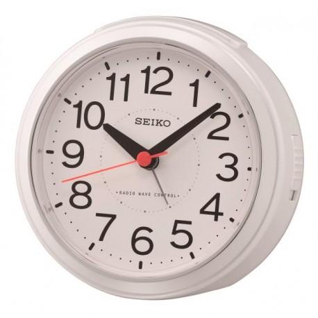 Réveil analogique rond blanc Seiko QHR026WN