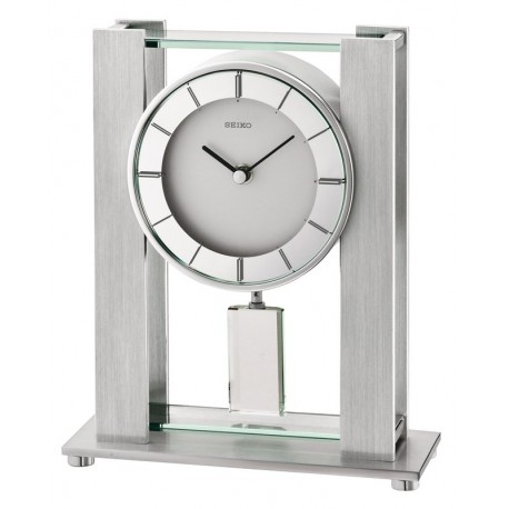 pendule rectangle poser seiko qhn007sn avec balancier. Black Bedroom Furniture Sets. Home Design Ideas